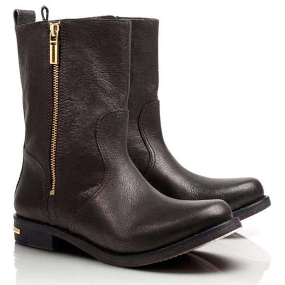 59d063ecb9a Tory Burch Women s Brown Elyse Bootie Size 6M